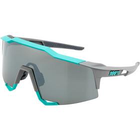 100% Speedcraft Mirror Glasses Tall soft tact celeste green/grey